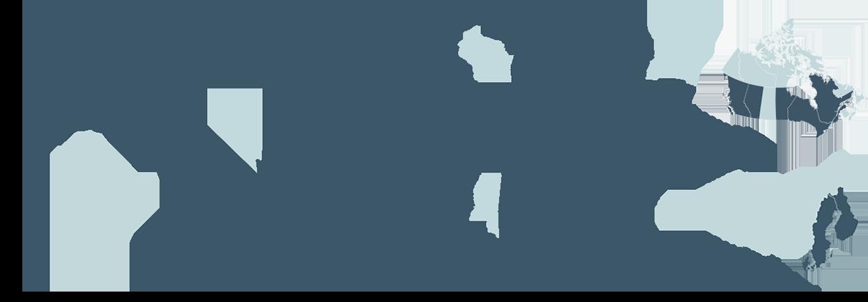 US Canada Scandinavia Map